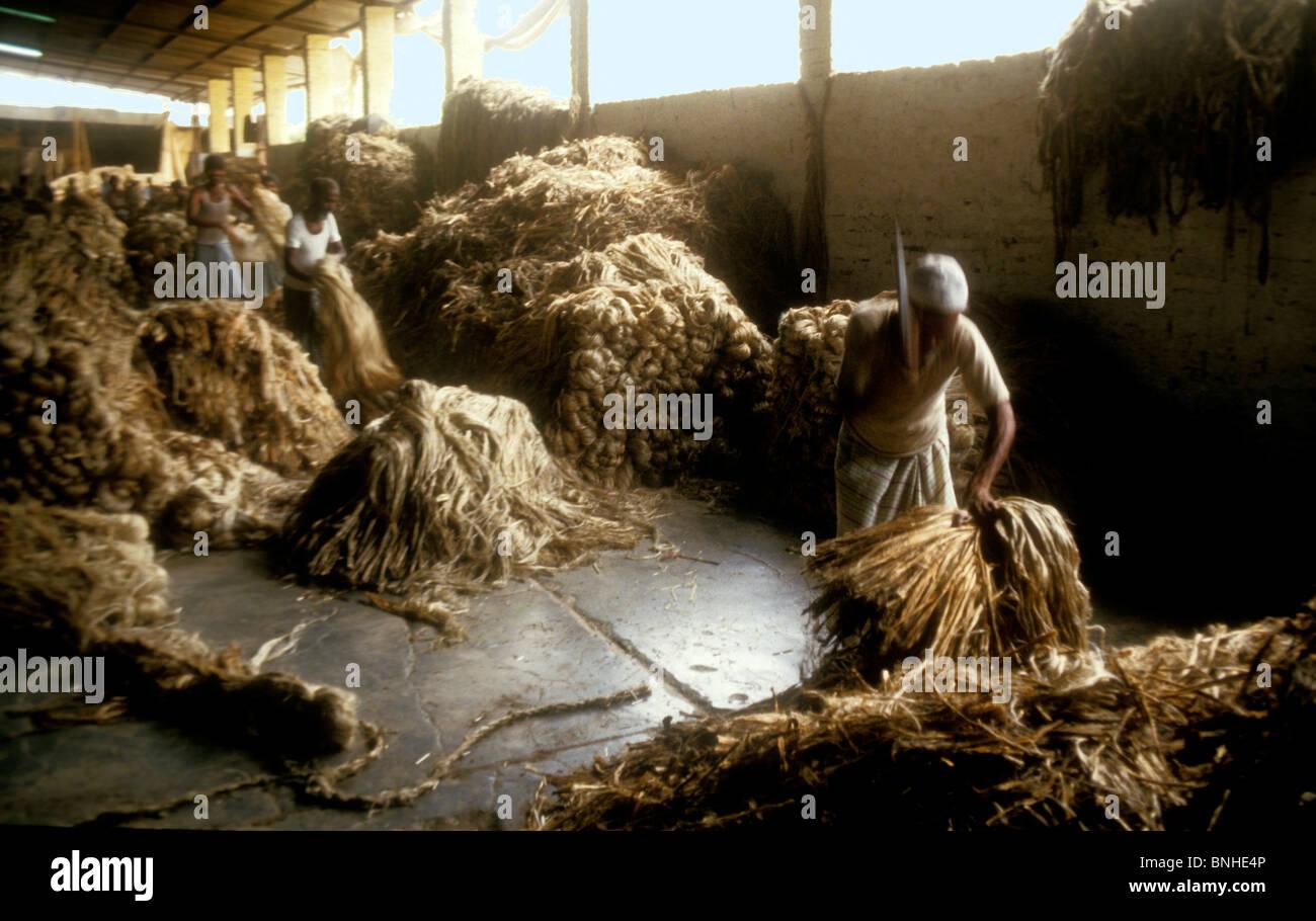 Jute mill in Bangladesh - Stock Image