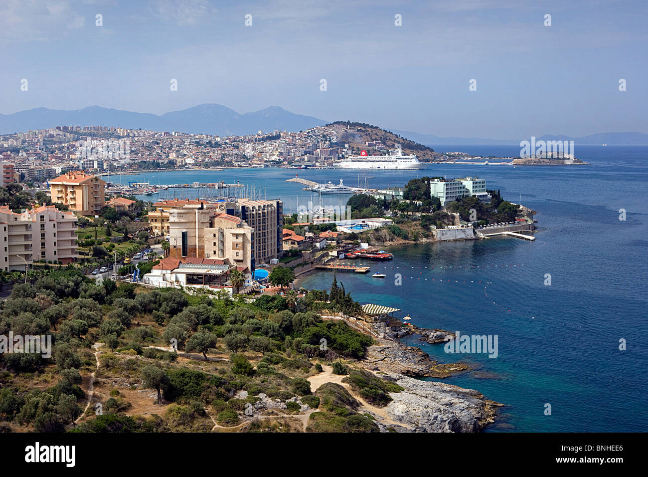 Turkey June 2008 Kusadasi city Mediterranean Sea coast - Stock Image