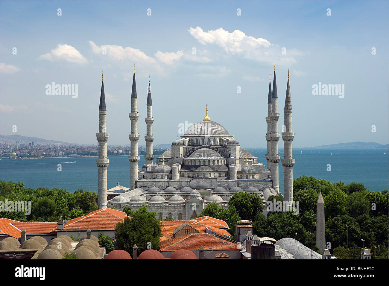 Turkey June 2008 Istanbul city Blue Mosque Sultan Ahmed Mosque - Stock Image