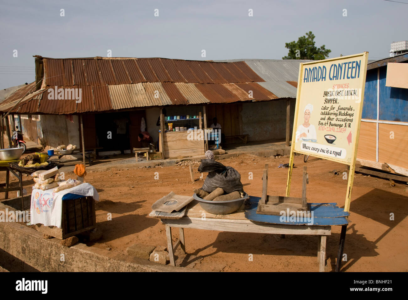 The only restaurant in Damango, northwest Ghana. - Stock Image