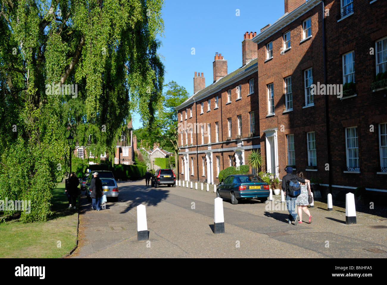 Ferry Lane in Cathedral Close, Norwich, Norfolk, England Stock Photo