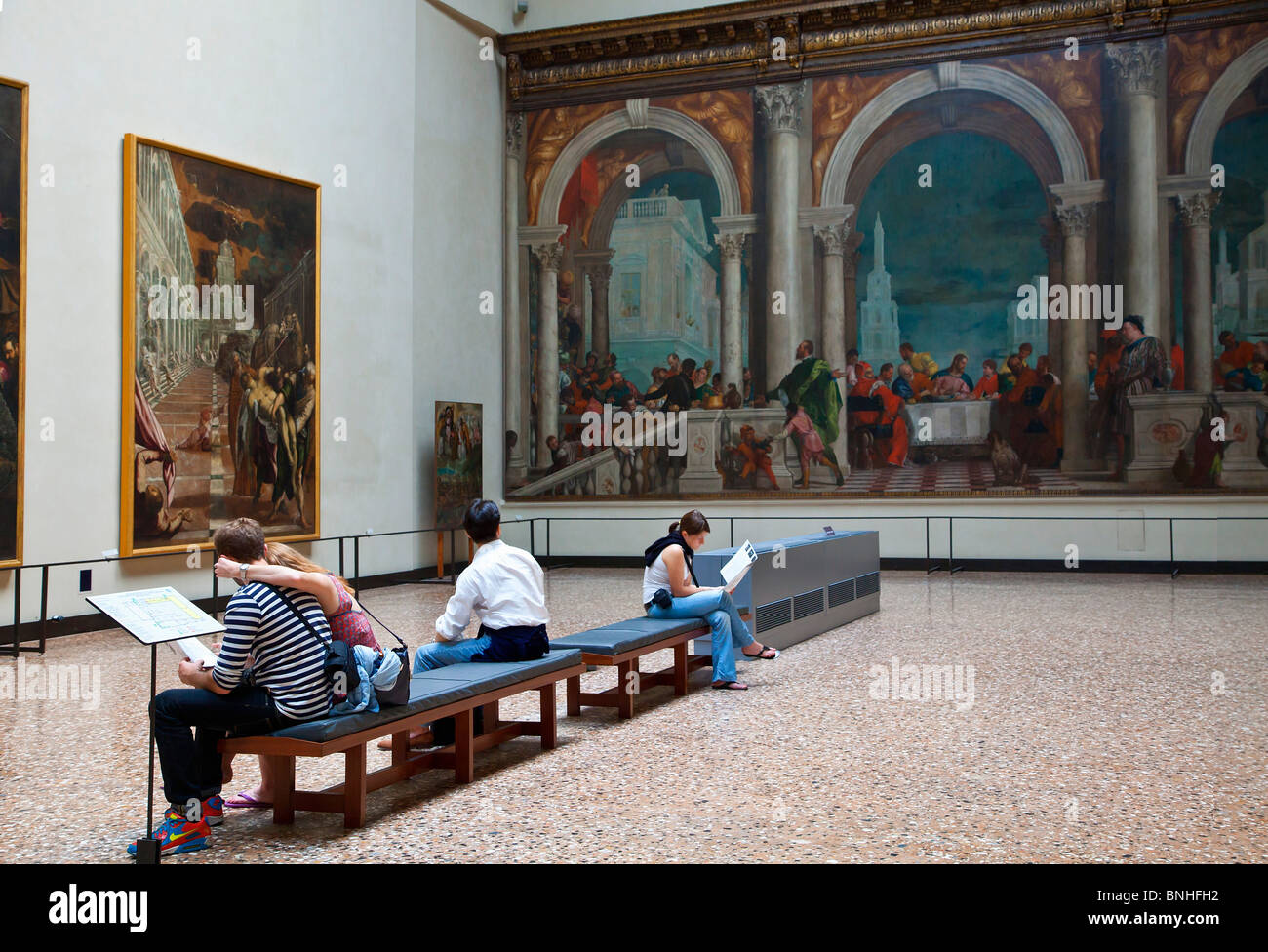 Europe, Italy, Venezia, Venice, Listed as World Heritage by UNESCO, Piazza San marco, Accademia Gallery in Venice - Stock Image