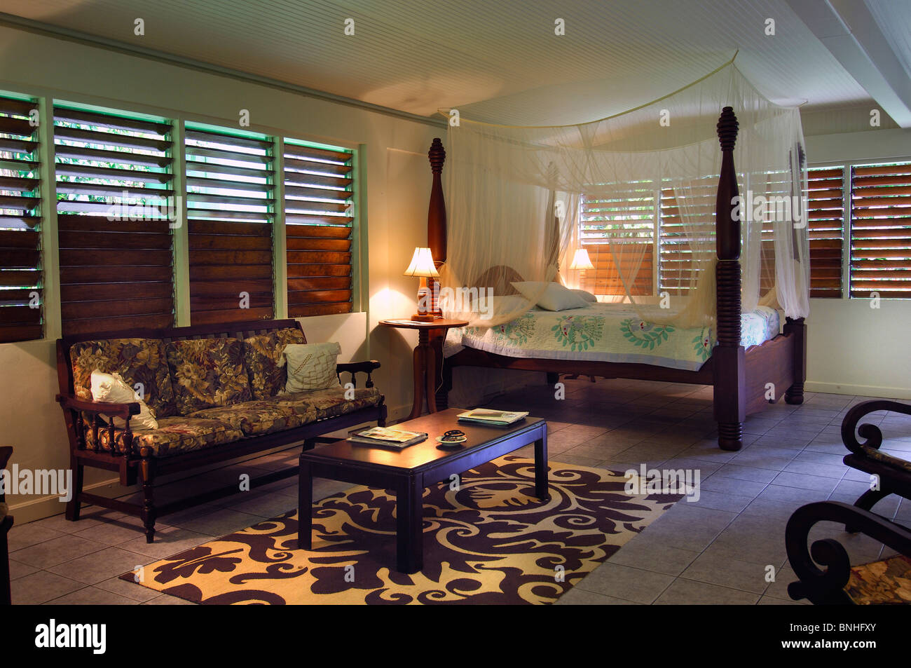 caribbean furniture. Dominica Roseau Honeymoon Suite Papillote Wilderness Retreat Caribbean Hotel Resort Indoor Indoors Inside Bed Room Furniture