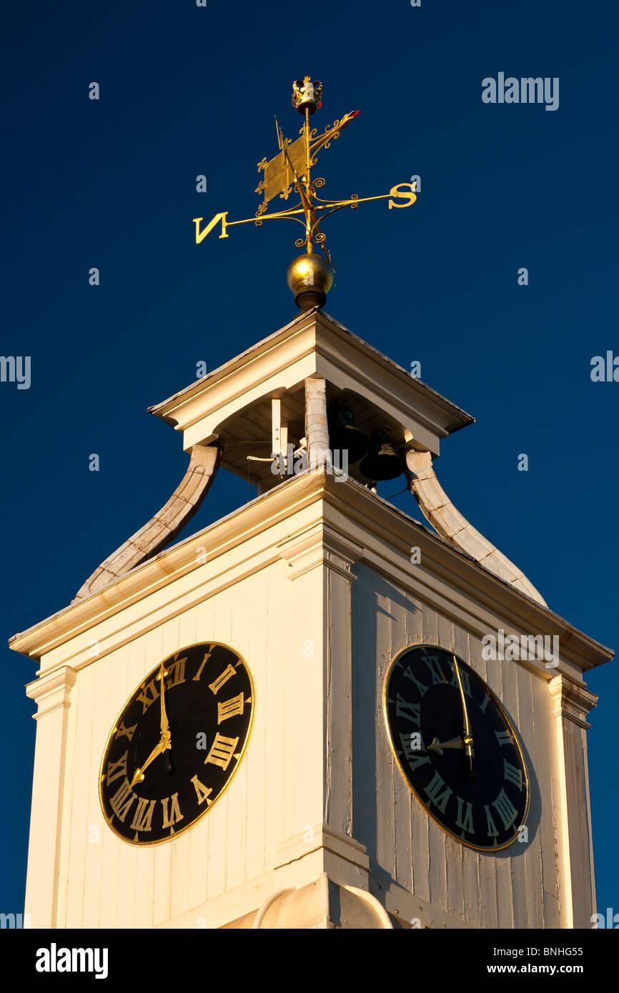 Clocktower in Chatham Historic Dockyard, Chatham, Kent, England, UK - Stock Image