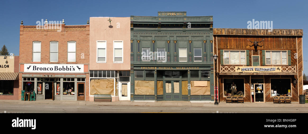 Usa Panguitch Utah Classic Small Town Houses Row Shops Stores