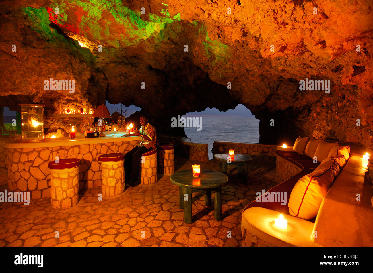 Caribbean Negril Jamaica Cigar Bar At The Cave The Caves