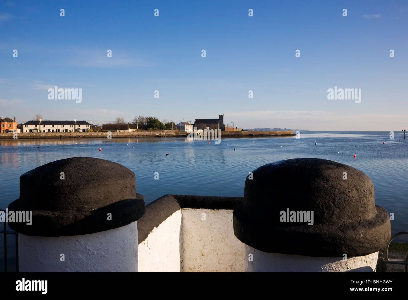 View to Abbeyside from Dungarvan, County Waterford, Ireland - Stock Image