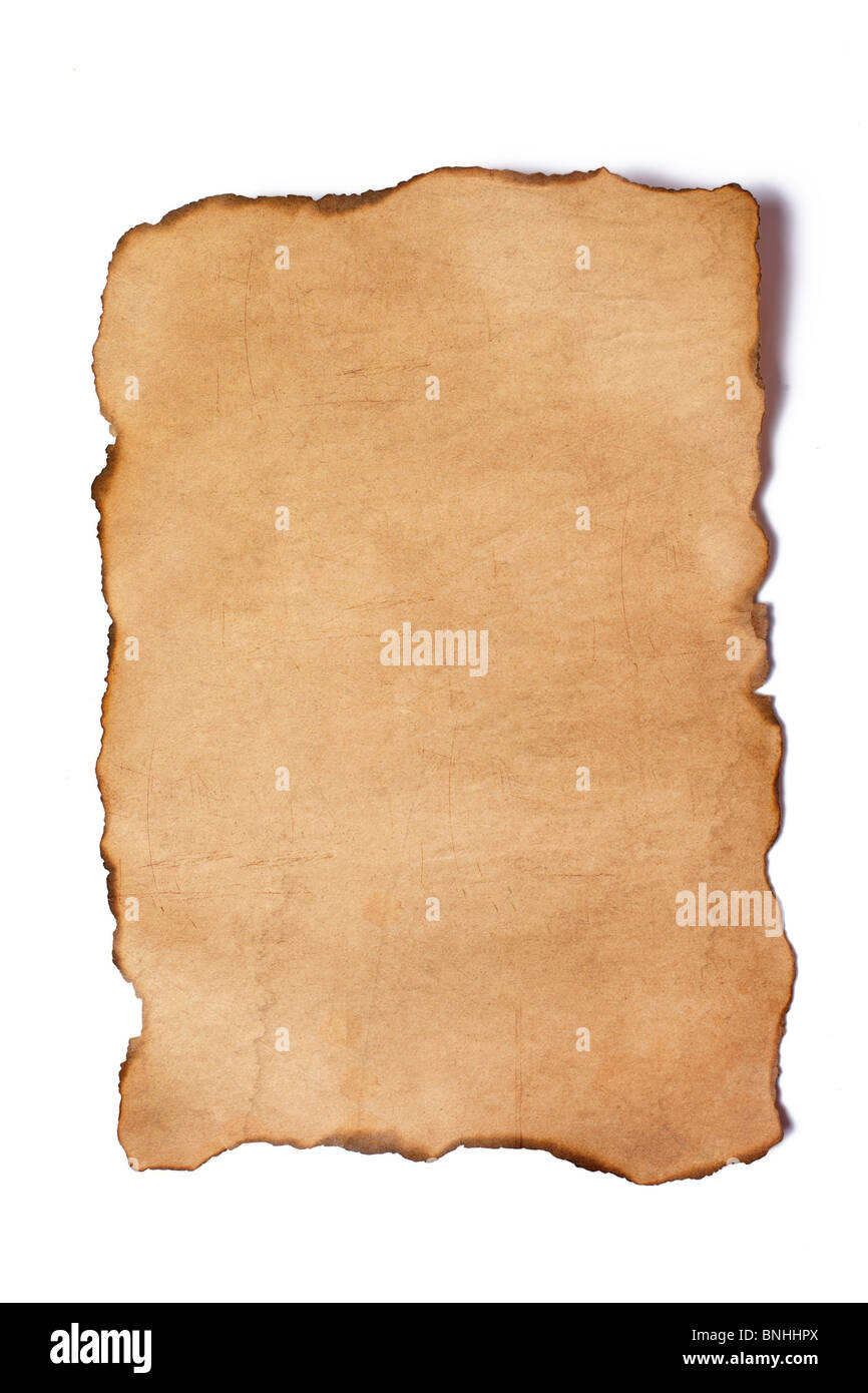 the vintage paper on white background - Stock Image