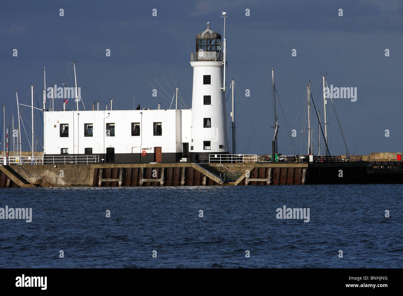 The lighthouse in Scarborough - Stock Image