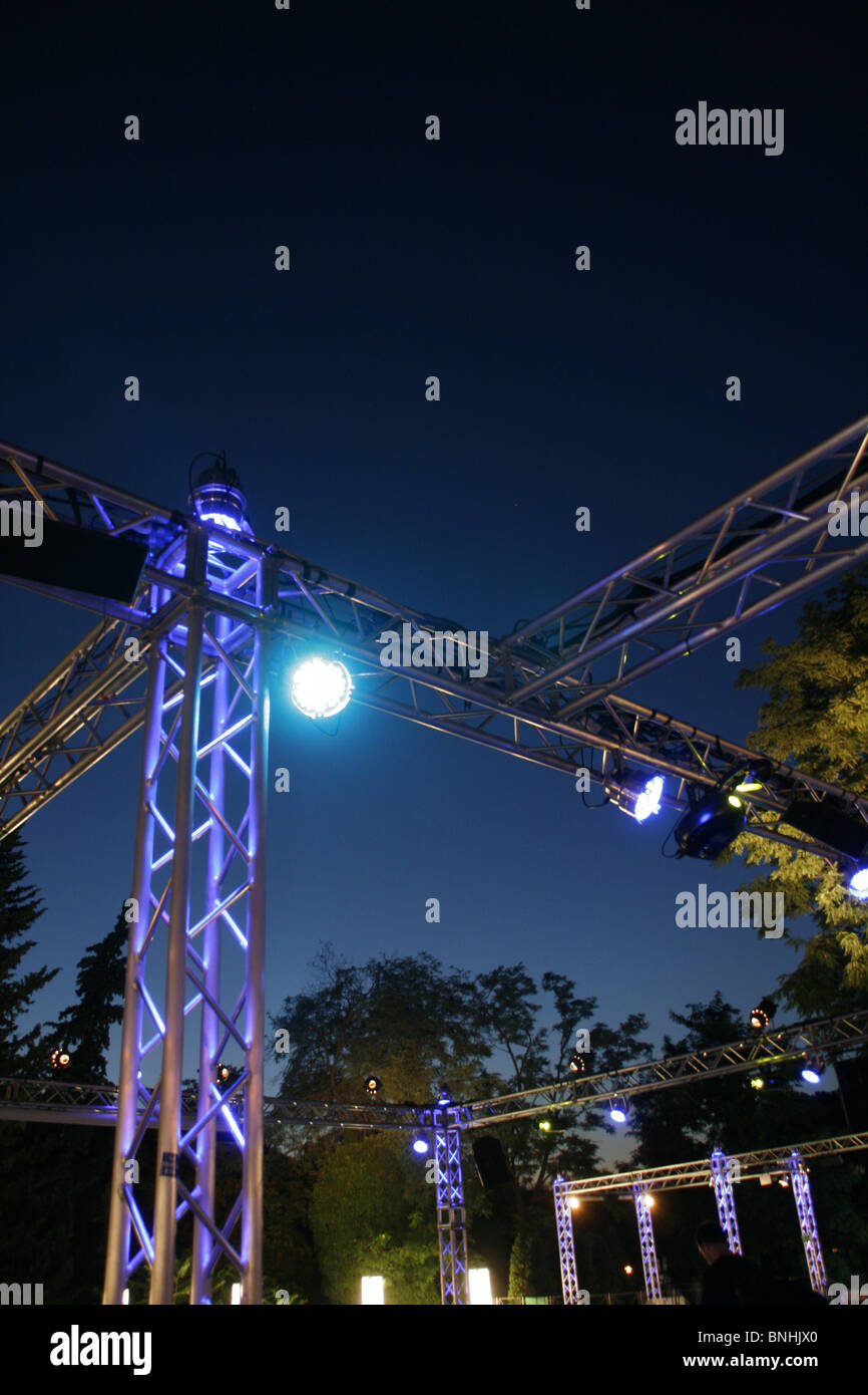 Night club lights in outdoor disco in rome italy stock photo night club lights in outdoor disco in rome italy mozeypictures Image collections