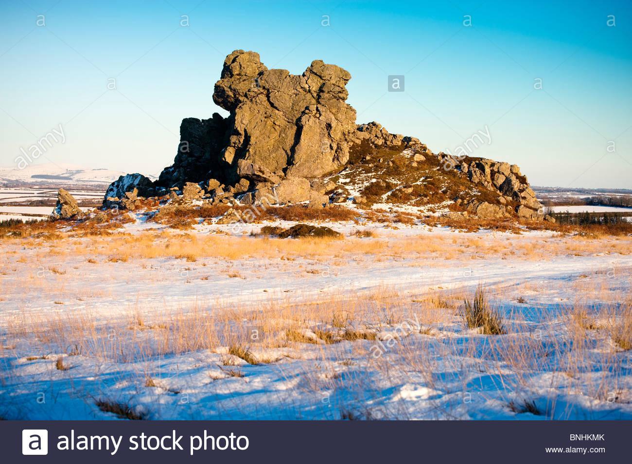 Poll Carn Treffgarne Wolfs Castle Haverfordwest Pembrokeshire Wales - Stock Image