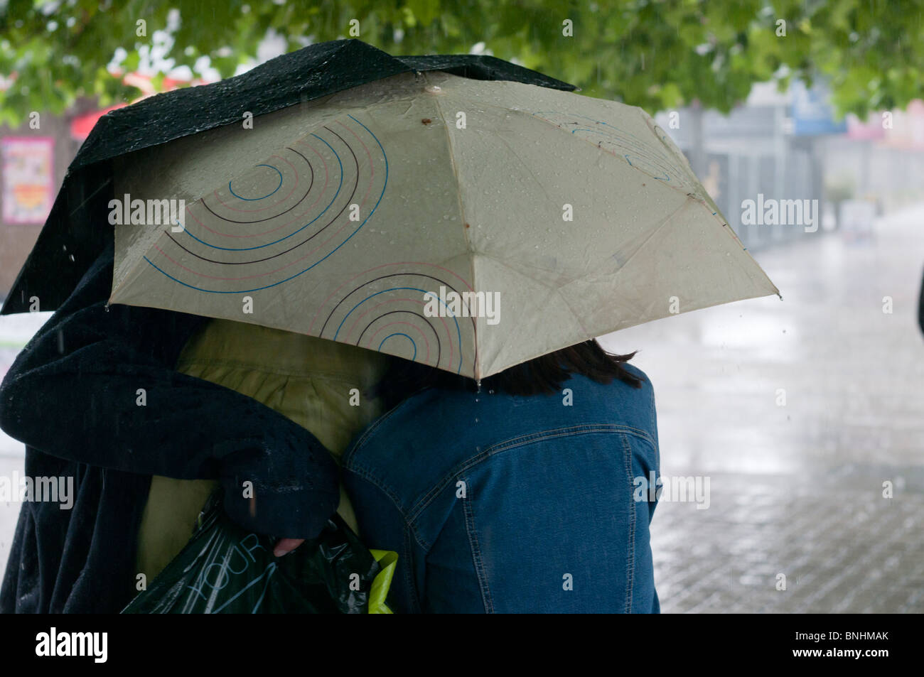 Raining in London - Stock Image