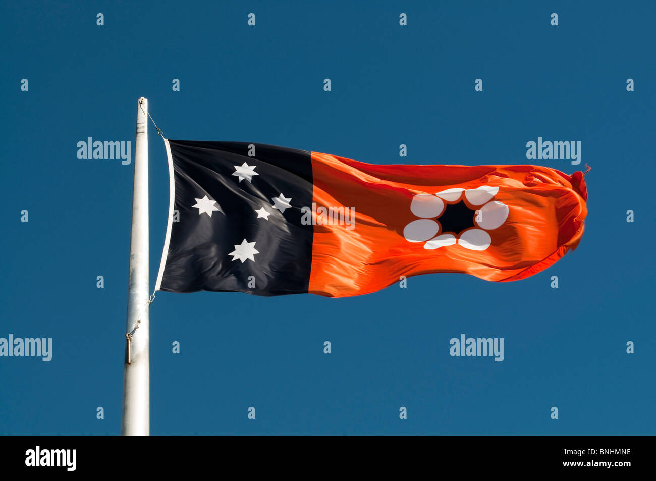 Northern Territories state flag, Anzac Hill, Alice Springs, Northern Territory, Australia - Stock Image