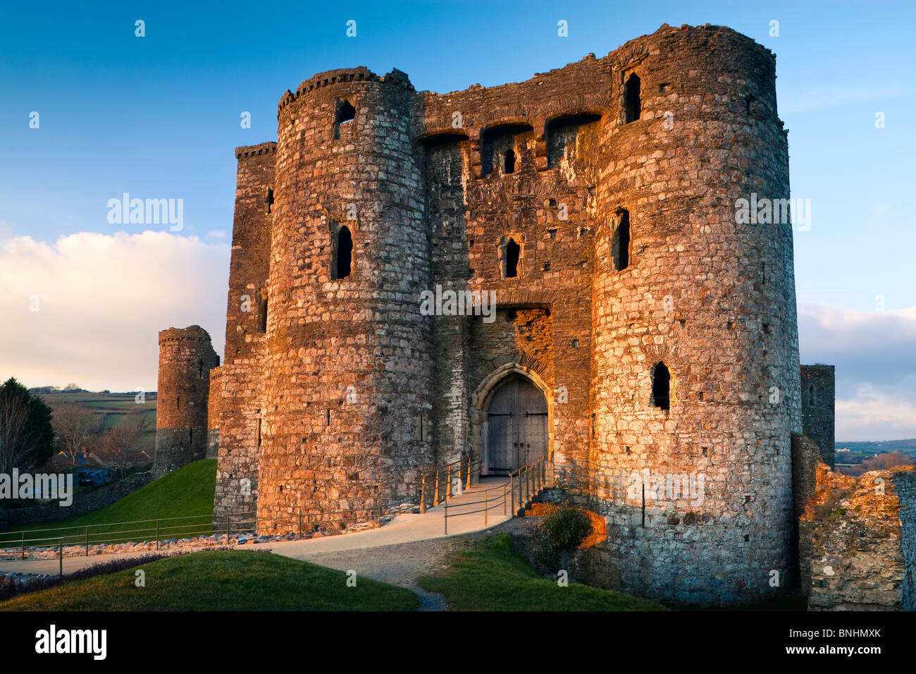 Kidwelly Castle Carmarthenshire Wales - Stock Image
