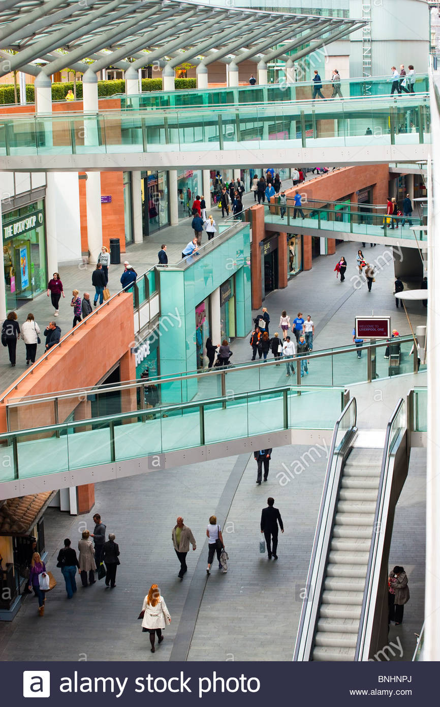 Liverpool One Shopping Mall Complex Liverpool England UK - Stock Image