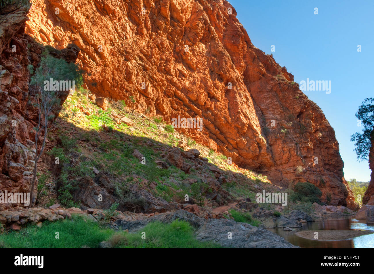 Simpson's Gap, West MacDonnell National Park, near Alice Springs, Northern Territory, Central Australia - Stock Image