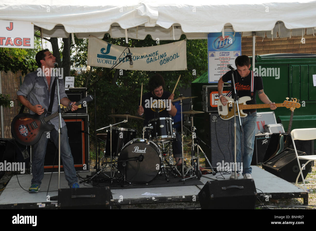 lrizn Severn and Those Victorius rock band plays at the Eastport festival in Annapolis, Md - Stock Image