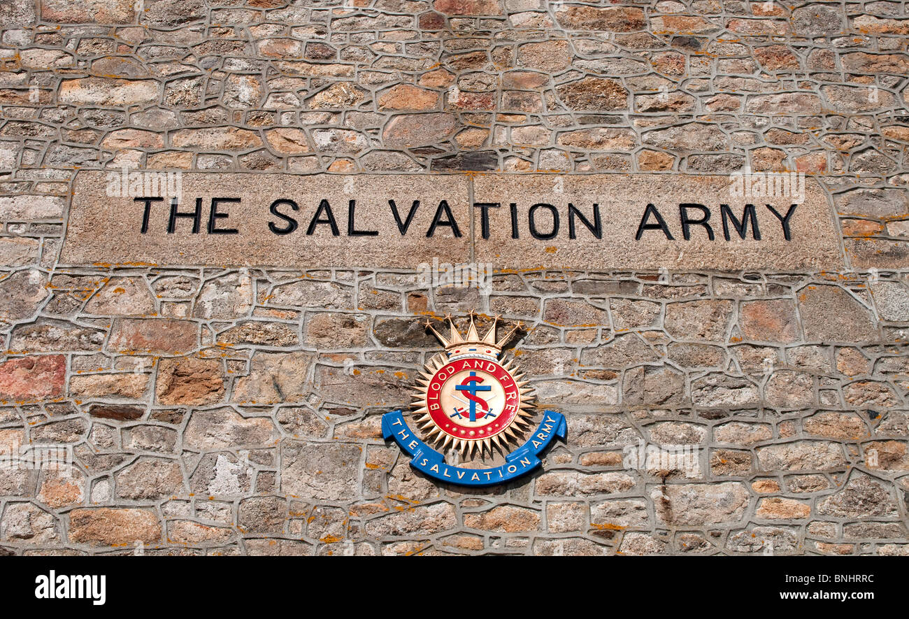 the salvation army sign and badge emblem - Stock Image