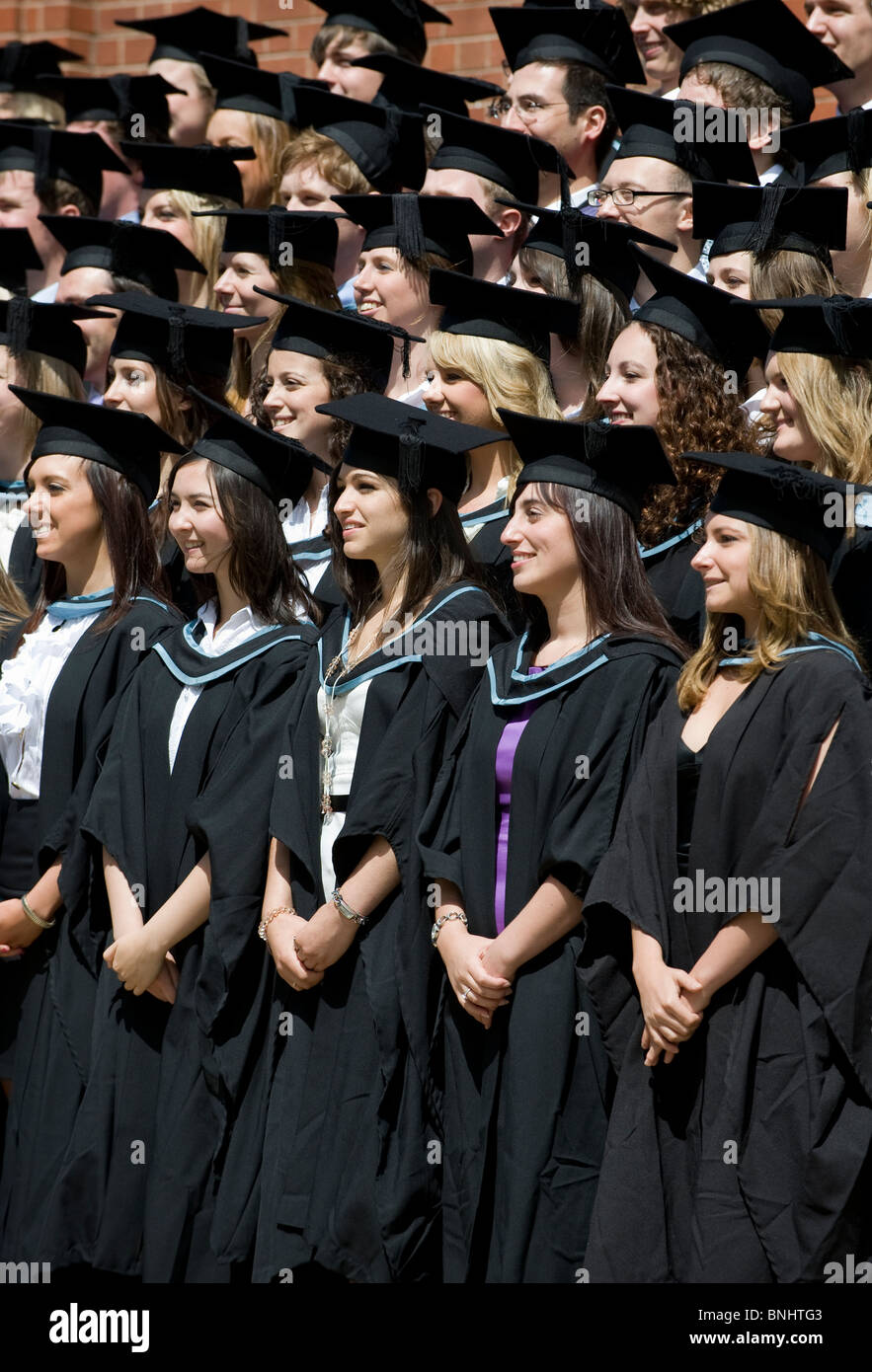 Students at The University of Birmingham after their Graduation ...