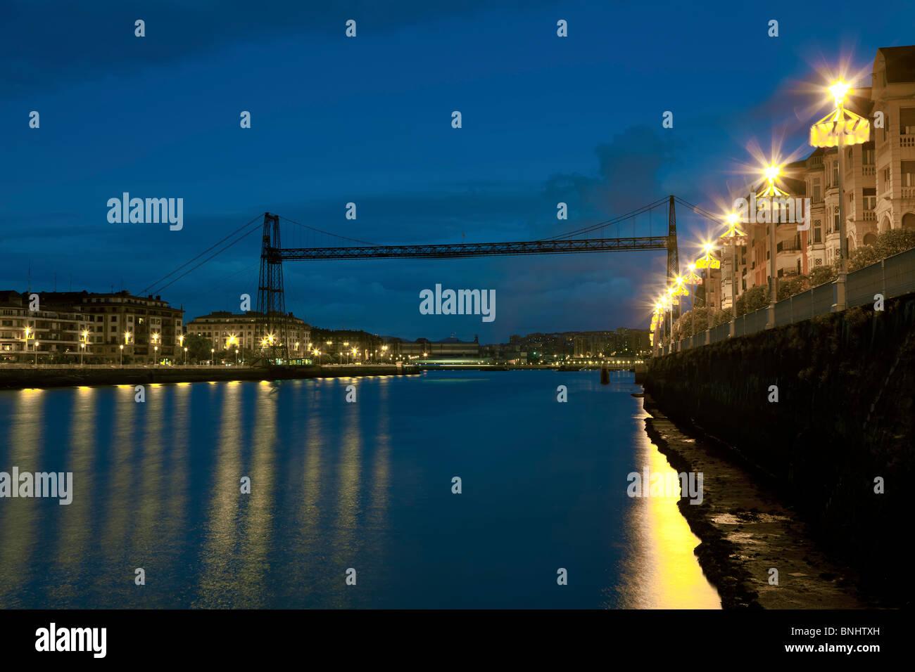 Suspension bridge, Portugalete, Bizkaia, Spain. - Stock Image
