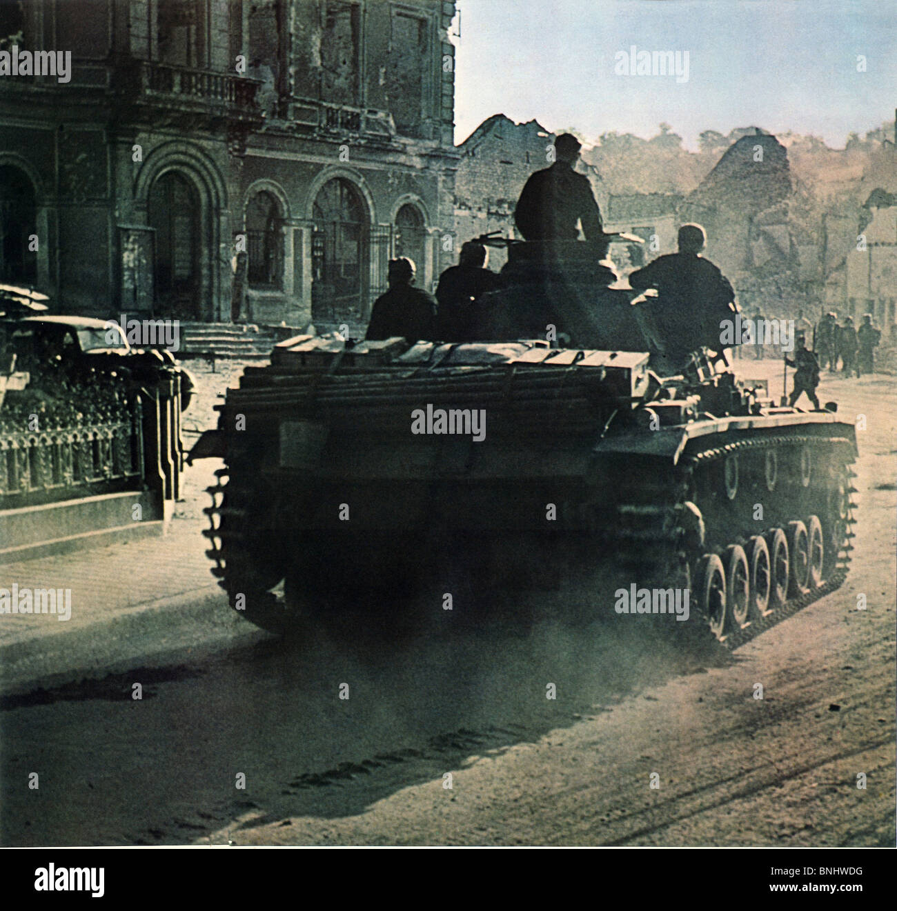 World War II German Panther tank Normandy France fighting June 1944 Second World War WW2 war military army history - Stock Image