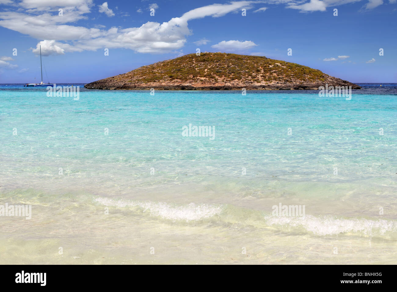 Illetes beach islands in Formentera Balearic islands Spain Illetas - Stock Image