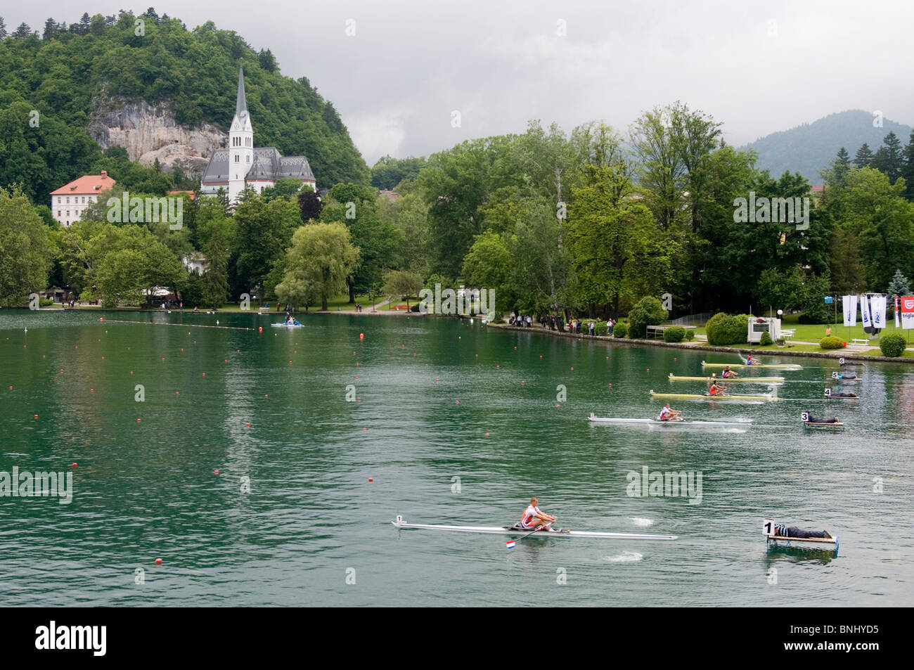Rowing World Cup at Bled, Slovenia, May 2010 - Stock Image