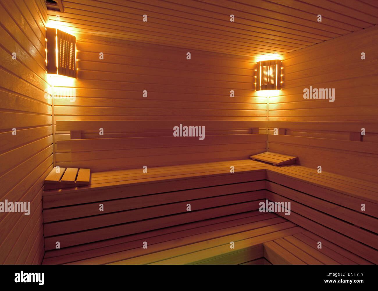 Interior Of Sauna Stock Photos & Interior Of Sauna Stock