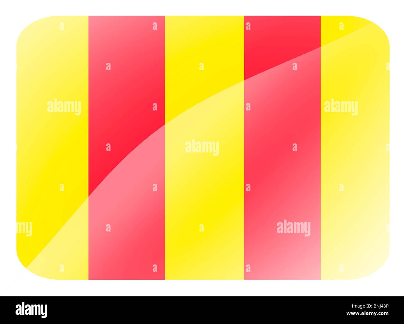 Slippery track flag -F1 Grand Prix - Stock Image