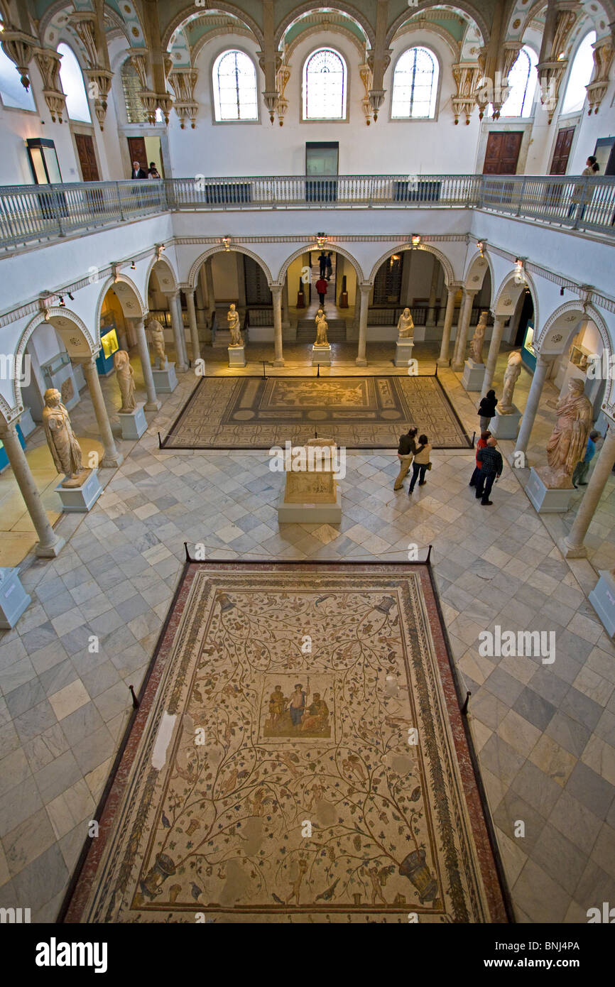 Tunisia Africa North Africa Tunis town city Bardo National Museum ancient historic roman history mosaic inside culture Stock Photo