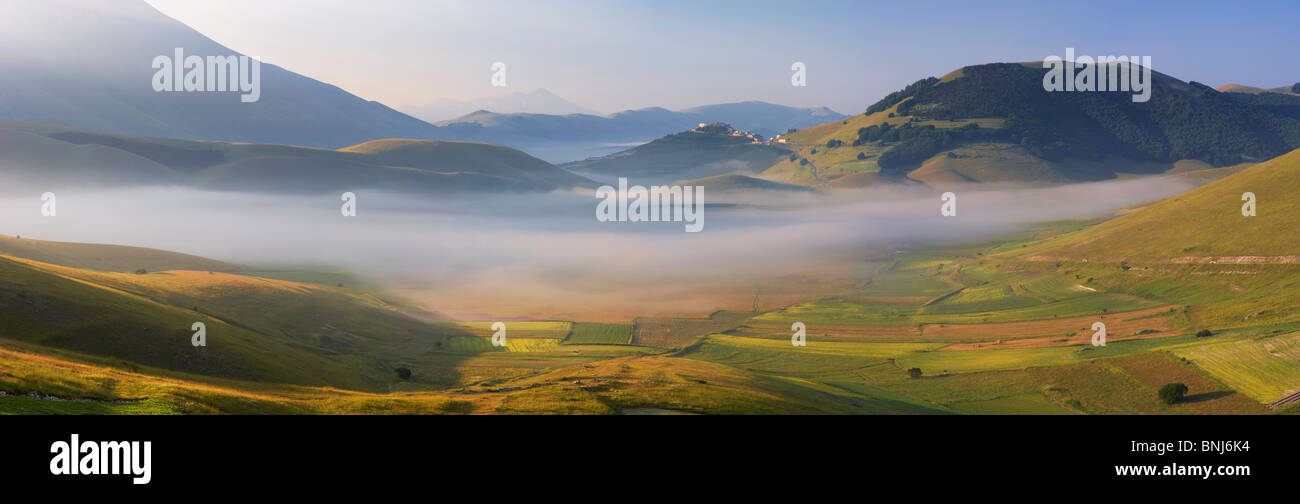 Piano Perduto in the morning mist - Stock Image