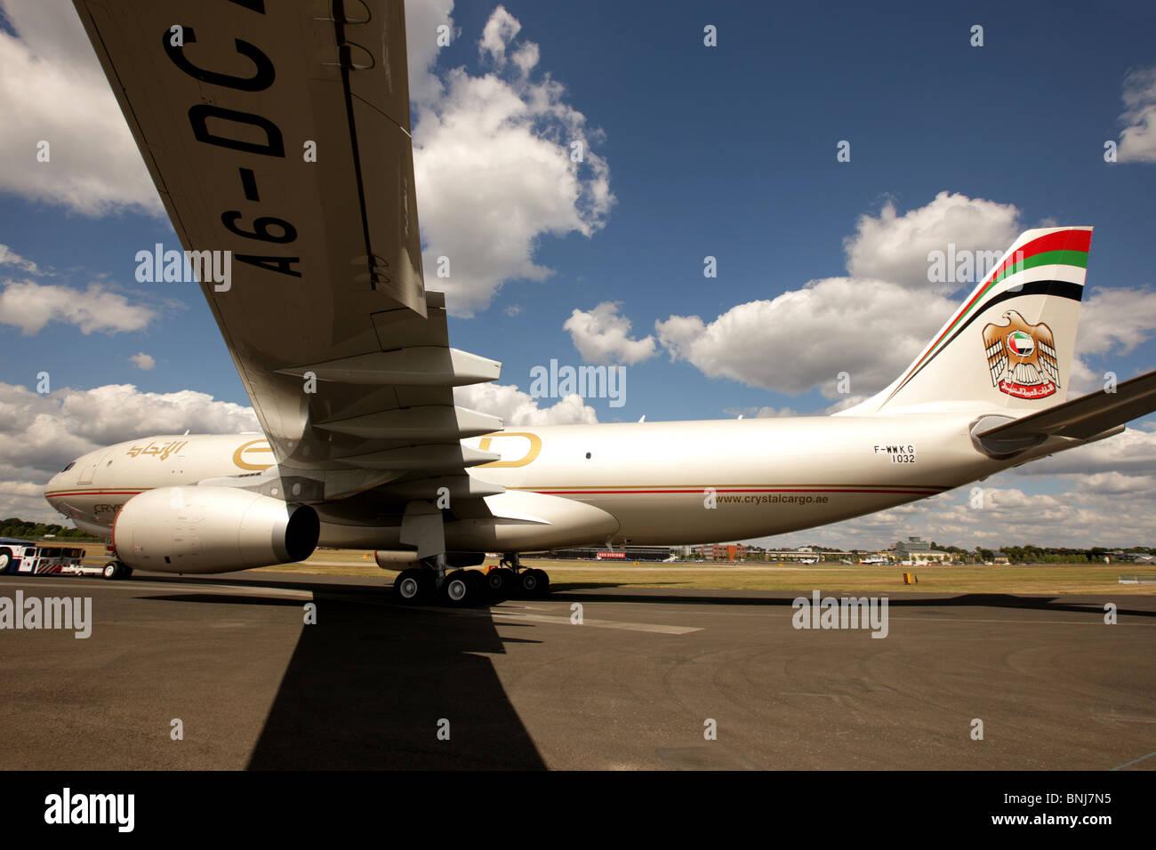 Etihad A330-200F Aircraft - Stock Image
