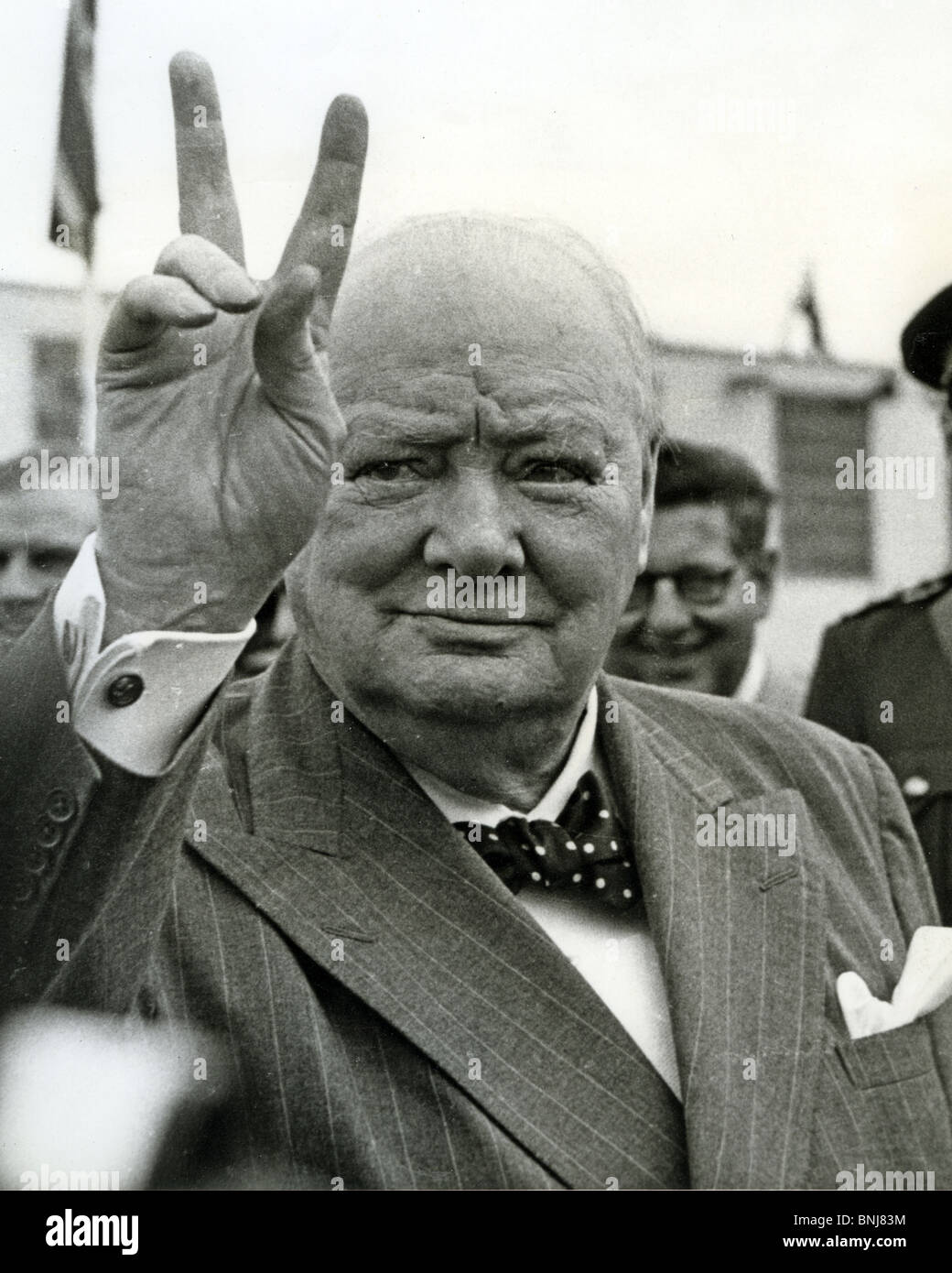 SIR WINSTON CHURCHILL in Canada in June 1954 - Stock Image