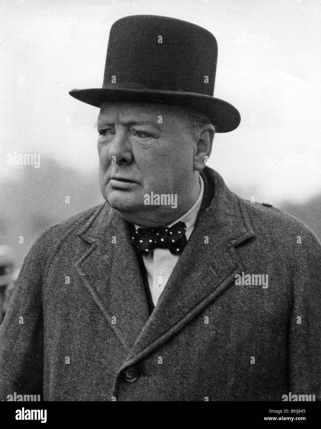 SIR WINSTON CHURCHILL in 1945. Photo Lewis Gale - Stock Image