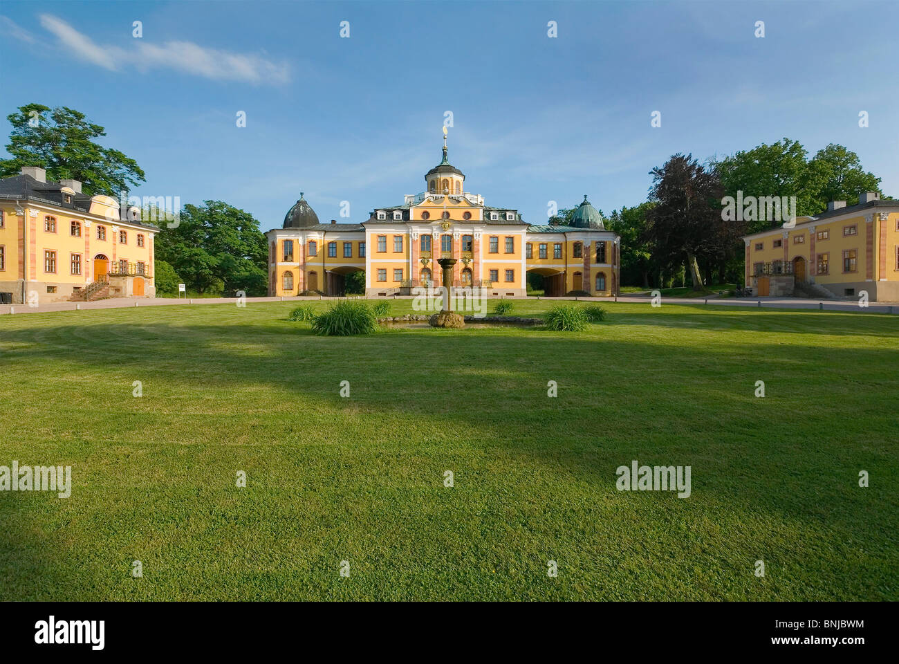 Germany Thuringia Weimar UNESCO world cultural heritage baroque castle Belvedere Lustschloss Pleasure palace rococo museum Stock Photo