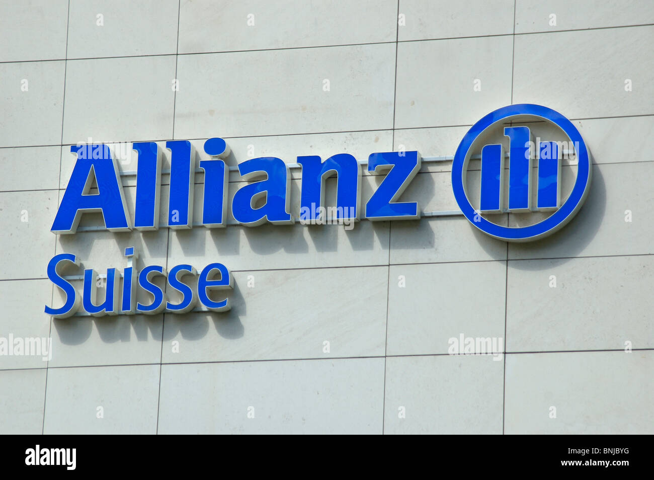 Allianz Suisse Switzerland building investment finance business group insurance group security safety insure protect - Stock Image