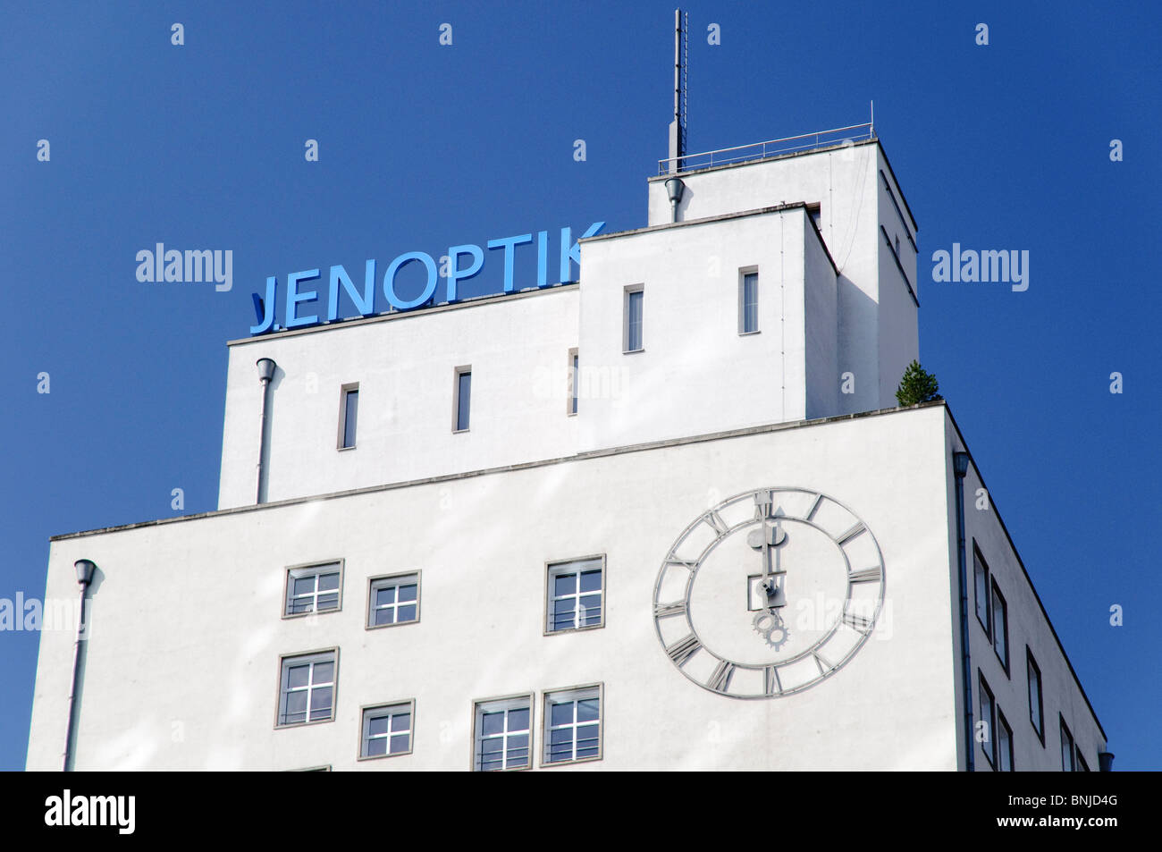 Architecture field recording FRG Bauhaus building federal republic business Germany Europe facade facades company - Stock Image