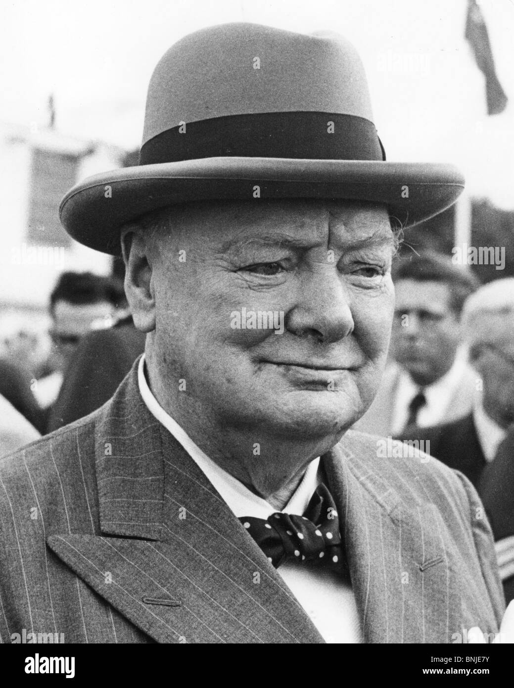 SIR WINSTON CHURCHILL on a visit to Ottawa in June 1954 - Stock Image