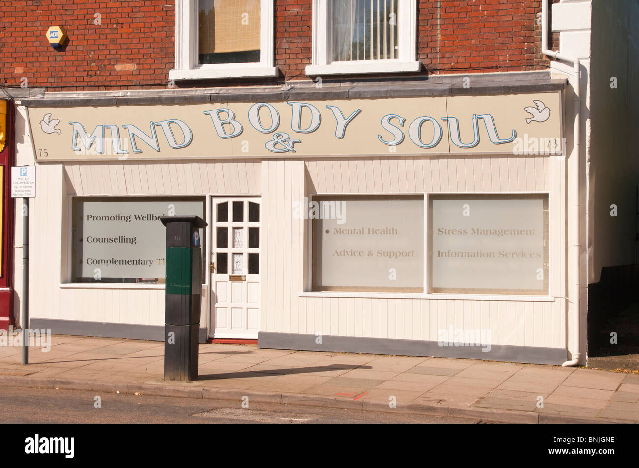 The Mind Body & Soul complementary Therapy office in Norwich , Norfolk , England , Great Britain , Uk - Stock Image