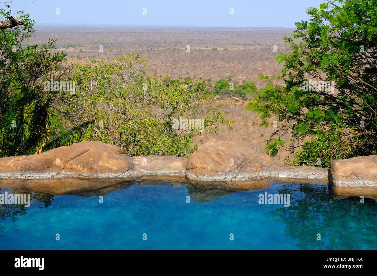 Pool Rock Lodge Ulusaba Sir Richard Branson's Private Game Reserve Sabi Sands Game Reserve Mpumalanga South Africa Stock Photo