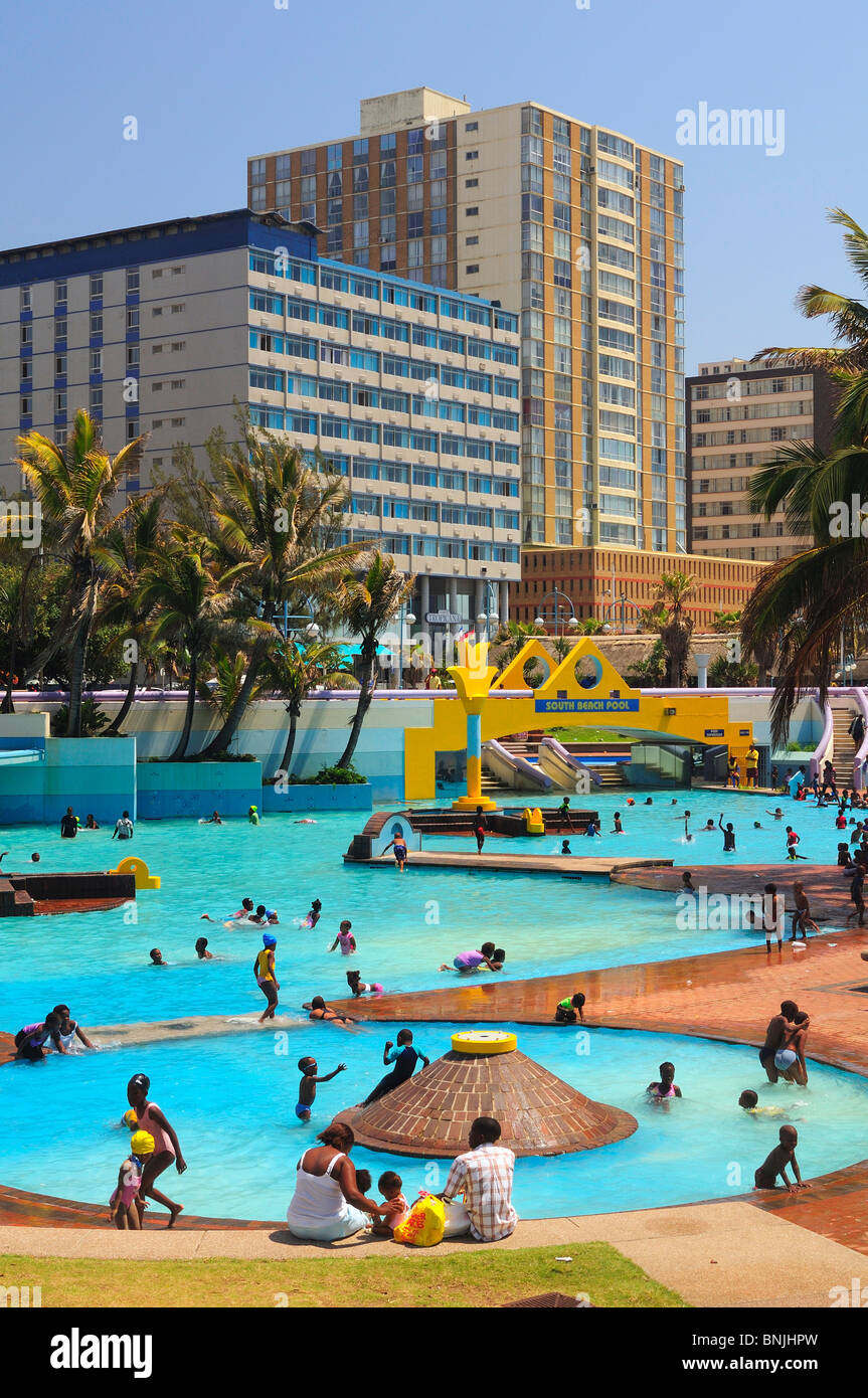 South Beach Pool Durban City Kwazulu Natal South Africa Tourists Stock Photo 30527249 Alamy