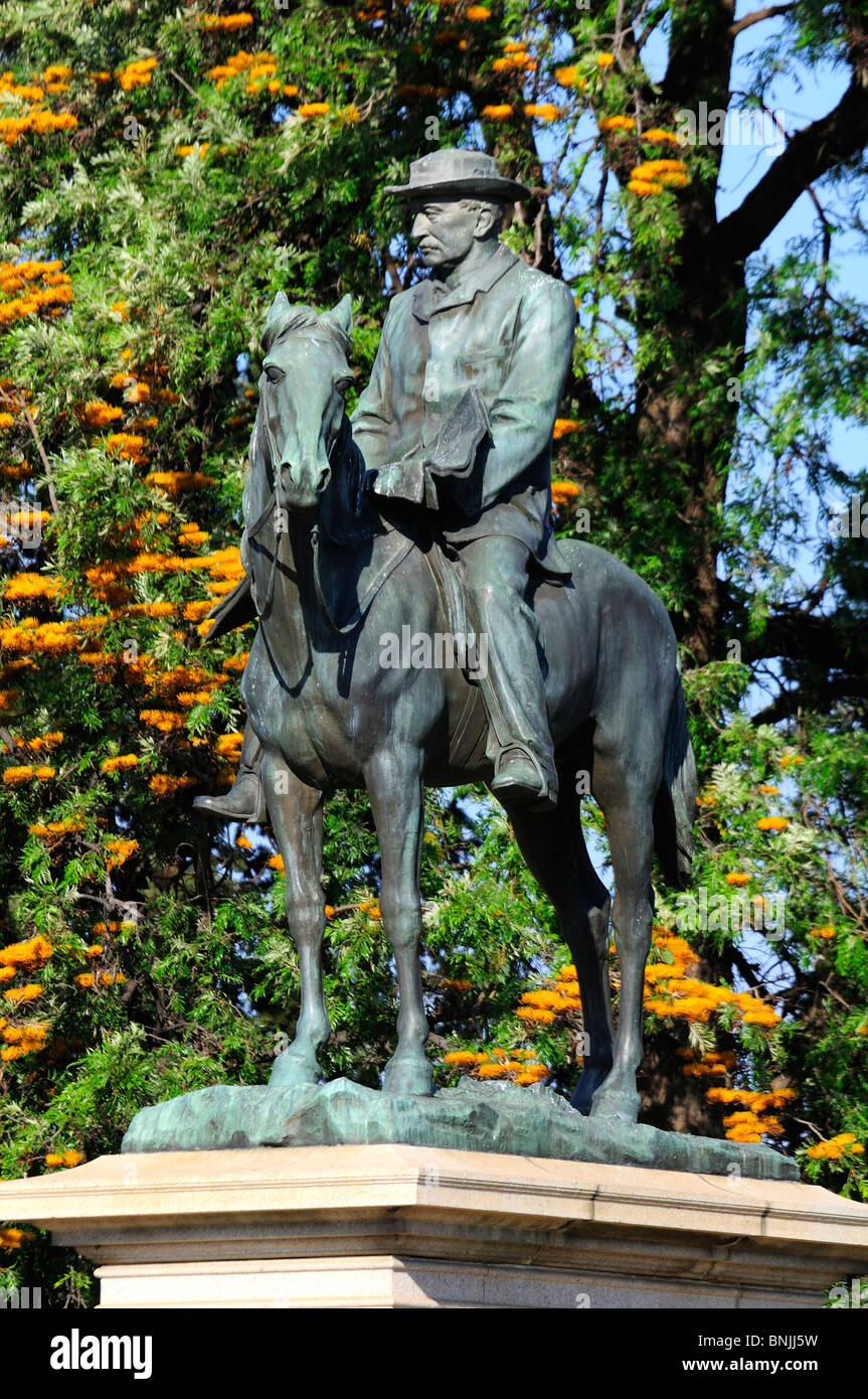 Cecil John Rhodes Statue Kimberley Northern Cape South Africa Rhodesia colonialism imperialism history Equestrian - Stock Image