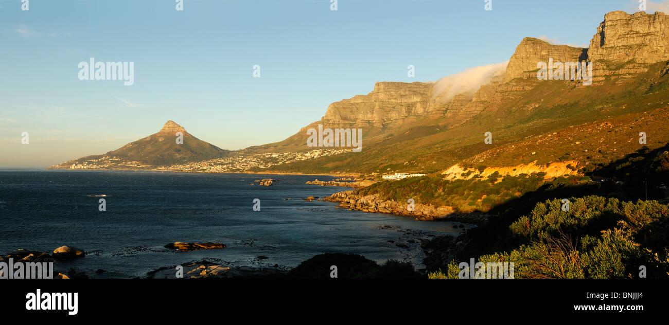 Twelve Apostles Hotel Camps Bay Cape Peninsula Western Cape South Africa coast ocean sea shore scenery mountain - Stock Image