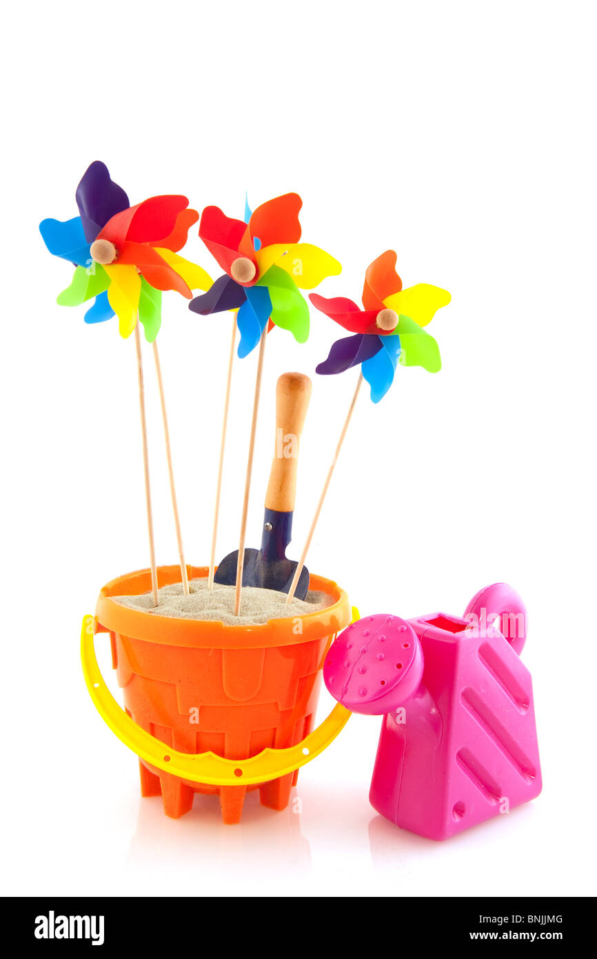 toys for the beach - Stock Image