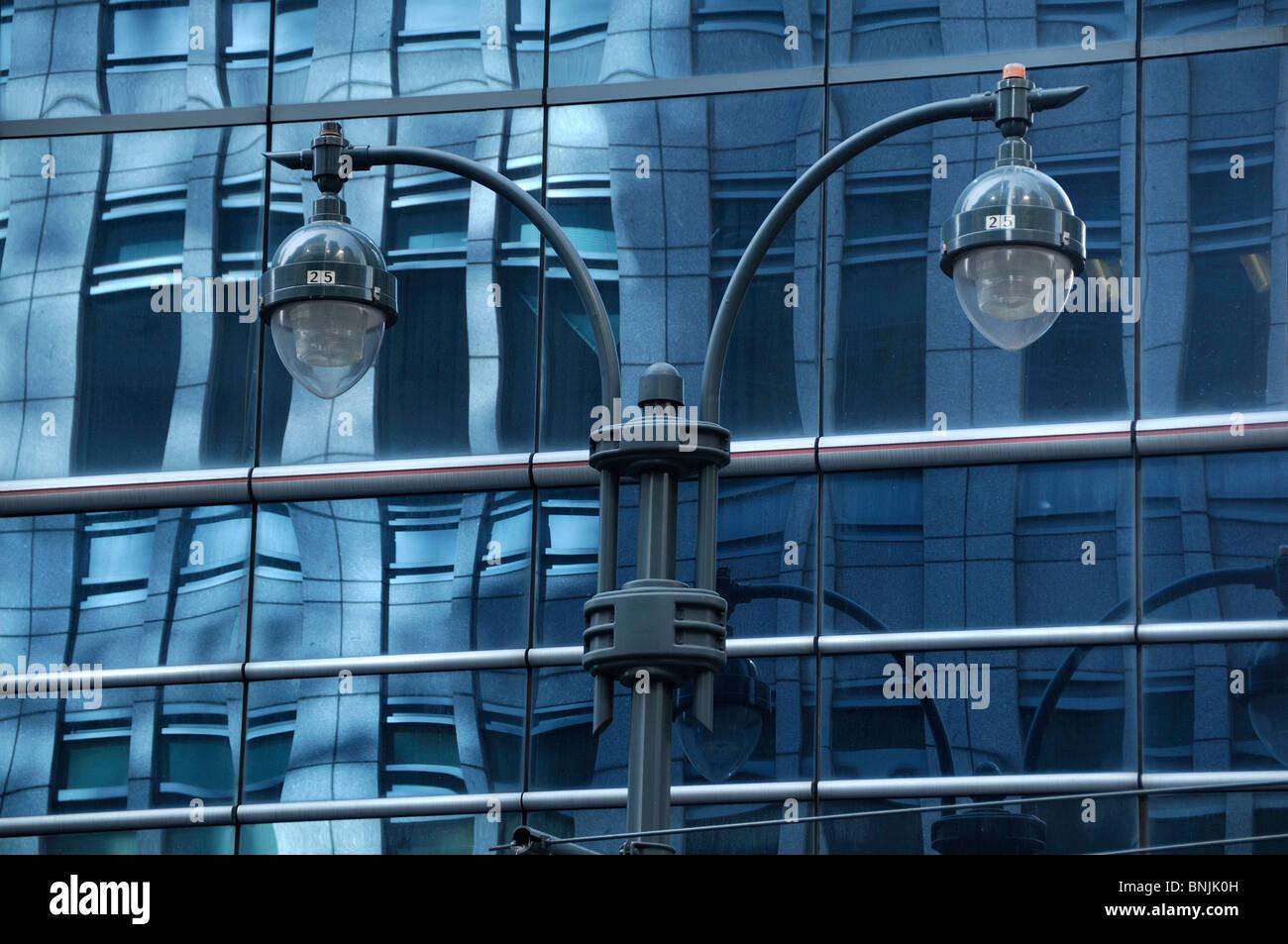 Building 380 Madison Avenue Midtown Manhattan New York USA architecture glass architecture lamps lantern city travel - Stock Image