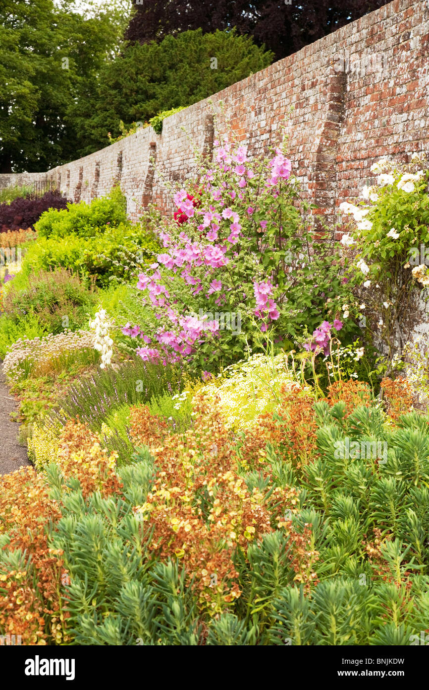 A herbaceous border in full flower in July, Kent, UK - Stock Image