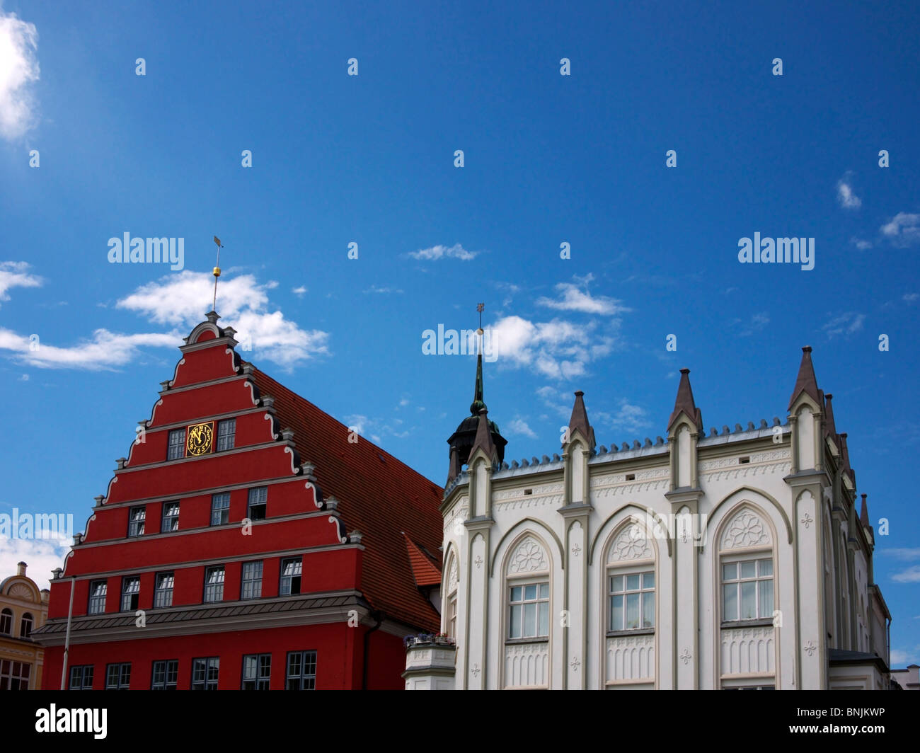 Central market place, Greifswald - Stock Image