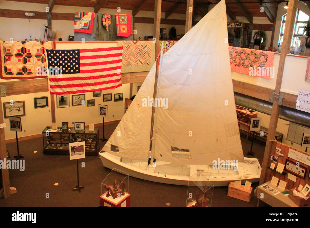Galley Exhibit at Core Sound Waterfowl Museum, Harkers Island, North Carolina, USA - Stock Image