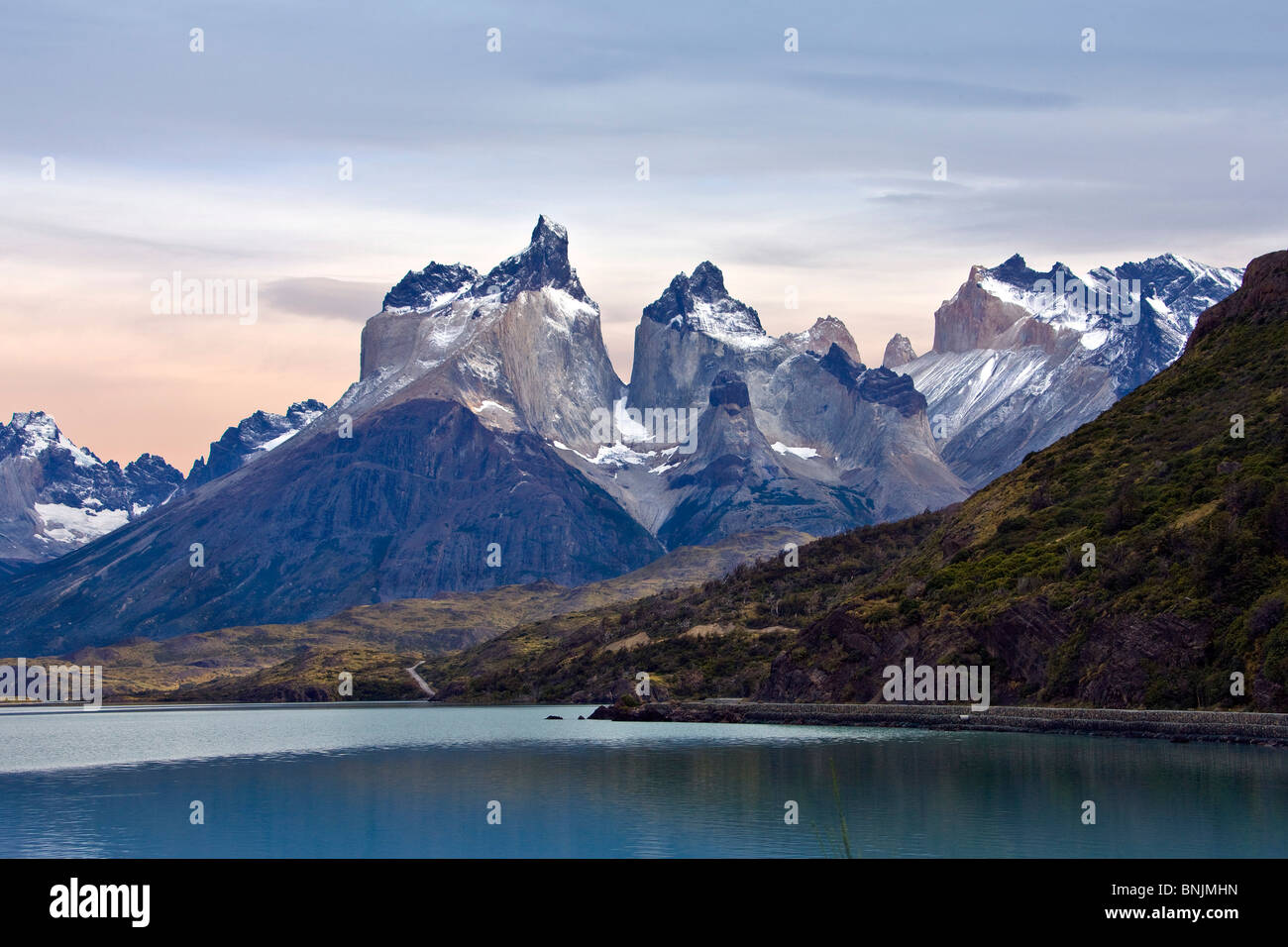 Chile South America March 2009 Chilean Patagonia Torres del Paine National Park landscape scenery nature mountains - Stock Image