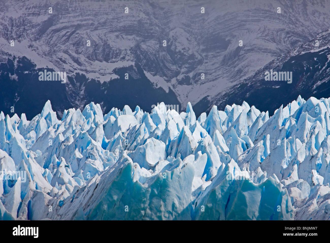 Argentina Südamerika Amerika March 2009 Patagonia Lago Argentino Lake Perito Moreno Perito Moreno Glacier ice - Stock Image